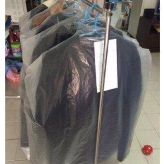 ถุงตัดไหล่คลุมผ้ามีขยายข้าง PE งานร้านซักรีด ขนาด 24x36 นิ้ว ตรา ปันสุขพลาสติก