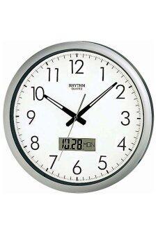 RHYTHM นาฬิกาแขวนพลาสติก รุ่น CFG702NR19 - Silver