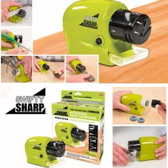 SWIFTY SHARP ที่ลับมีด ไฟฟ้า เอนกประสงค์ ลับของมีคม ลับกรรไกร - สีเขียว Motorized Knife Sharpener
