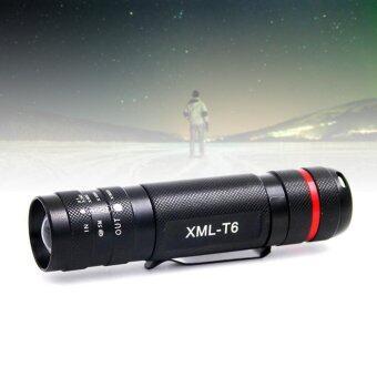 2500ลูเมน 5โหมด CREE XML T6 LED 18650 แสงไฟฉายแสงสีดำ