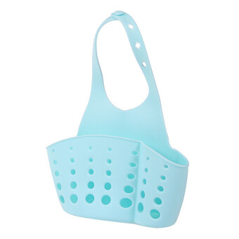 ตะกร้าแขวนกระเป๋าอาบน้ำครัวเก็บล้างอุปกรณ์เครื่องมือด้ามสีน้ำเงิน