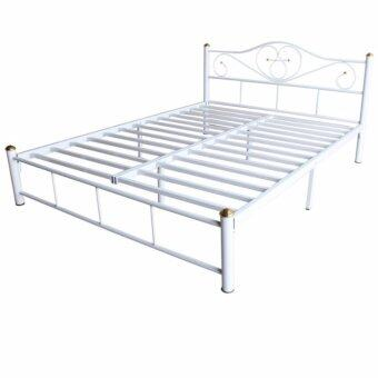 ISO เตียงเหล็กอย่างดี ขนาด 5ฟุต รุ่น LOTUS ขา3นิ้ว