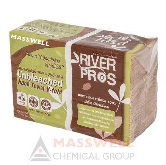 ขายยกลัง RiverPro กระดาษเช็ดมือ สีน้ำตาล รุ่น V-Fold ECO Unbleached (24 แพ็ค)