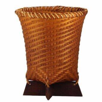 ถังขยะไม้ไผ่