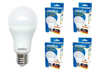 Saneluz หลอดไฟ LED Bulb SZ 5W หลอดปิงปอง (Warmwhite แสงวอร์มไวท์) 4 หลอด