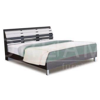 RF Furniture เตียงนอนระแนงขาลอยขนาด 6 ฟุต รุ่น ฺB602RL( สีโอีค/ขาว )