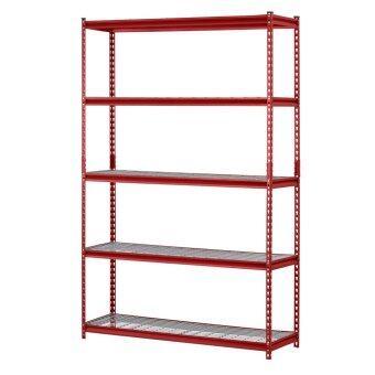 Muscle Rack ชั้นเหล็กสำหรับวางของ 5-Shelf Steel Shelving Unit(Red)