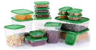 KitchenMarks ชุดกล่องถนอมอาหาร กล่องถนอมอาหาร กล่องใส่อาหาร กล่องพลาสติก กล่องใส่อาหาร กล่องเก็บของ กล่องเก็บอาหาร 17 ชิ้น