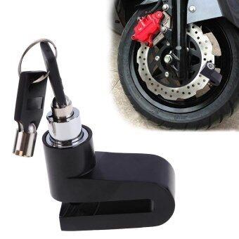 ความล้าหลังรถจักรยานรถจักรยานยนต์เบรกจานโรเตอร์หมุนกุญแจนิรภัยสีดำ