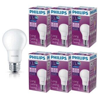 Philips หลอด LED BULB 13 วัตต์ ขั้ว E27 - แสงเดย์ไลท์ (6 ดวง)