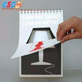 โคมไฟหน้าปฏิทินตั้งโต๊ะ สายUSB สีขาว