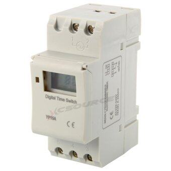 Harga สวิทช์ไฟตั้งเวลา AC 220-240V Digital LCD Power Programmable DIN Timer Time Switch Relay 16A