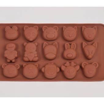แม่พิมพ์ซิลิโคน การ์ตูนน่ารัก animal face พิมพ์วุ้น ทำน้ำแข็ง ทำ chocolate food grade