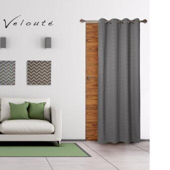 Veloute ผ้าม่านประตูกันแสงยูวี รุ่น Dimout - Embossสี Grey 1 ชิ้น