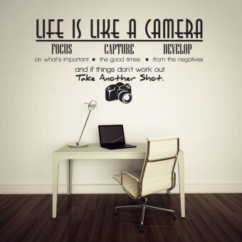 ชีวิตก็เหมือนกับกล้องของ Oem ทำงานกลับบ้านการตกแต่งศิลปะสติ๊กเกอร์ติดผนัง
