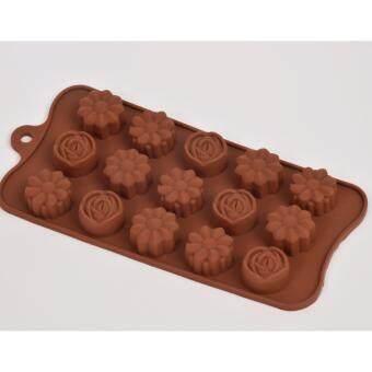 แม่พิมพ์ซิลิโคน ดอกไม้แสนสวย Size เล็ก พิมพ์วุ้น ทำน้ำแข็ง ทำ chocolate food grade