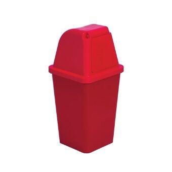 ถังขยะพลาสติก ฝาเปิด-ปิด ขนาด 60 ลิตร (สีแดง)