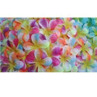 Dokpikul-กลีบดอกลีลาวดี ดอกไม้ผ้า สีรุ้ง ขนาด 7.5cm. แพค 500 ชิ้น