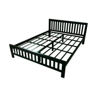 DAXTON LOFTS เตียงเดี่ยว Epoxy เหล็กกล่องหนาพิเศษ ขนาด 3.5 ฟุต รุ่น Lofts 3.5 (Black)เป็นเตียงขนาดมาตฐาน