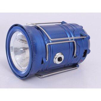 โคมไฟ, โคมไฟ, ไฟฉาย 6 + 1LED แสงอาทิตย์ทองแบบชาร์จ / 5W LED HL-5800T (สีน้ำเงิน)