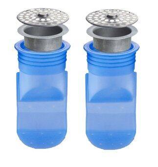 ซิลิโคนกันกลิ่นและแมลงจากท่อระบายน้ำ พร้อมตะแกรงปิด สำหรับรูระบายน้ำขนาด 3.5-3.9 เซนติเมตร (cm.) [แพ็คคู่