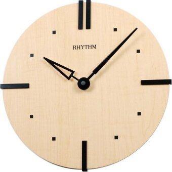 RHYTHM นาฬิกาแขวนไม้ รุ่น CMG284NR07 - Light Brown