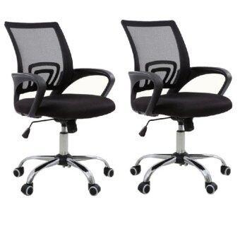 B&G โฮมออฟฟิศ เก้าอี้สำนักงาน เก้าอี้นั่งทำงาน (Black) - รุ่น B (แพคคู่)