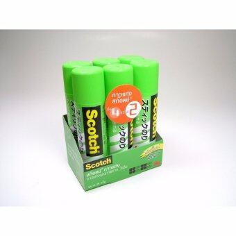 Scotch® Glue Stick #6025 25 g. Buy 4 Get 2 Free สก๊อตช์® กาวแท่งสีขาว ขนาด 25 กรัม รุ่น 4 แถม 2