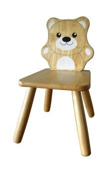 Tano Bear chair เก้าอี้เด็กไม้ยางพารา (ลายหมี)