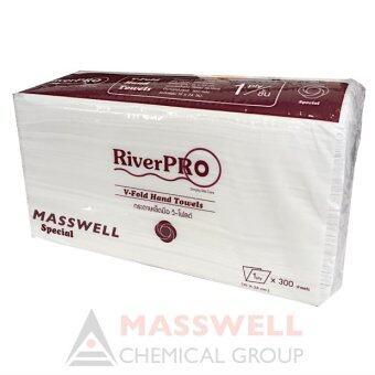 ขายยกลัง RiverPro กระดาษเช็ดมือสีขาว รุ่น V-Fold 1-Ply (24 แพ็ค)