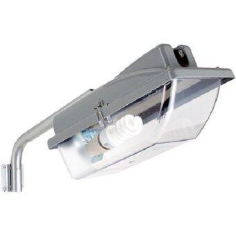 โคมไฟถนนe27มีสวิทซ์แสงแดด เปิด-ปิด อัตโนมัติ พร้อมหลอดประหยัด สี ขาว30W 1ตัว