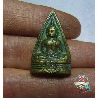 hindd พระพิมพ์สามเหลี่่ยม สองหน้า พระพุทธโสทร(หลวงพ่อโสธร)เนื้อทองเหลือง