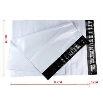ซองไปรษณีย์พลาสติกสีขาว ขนาด 20x30 cm (100 ใบ)