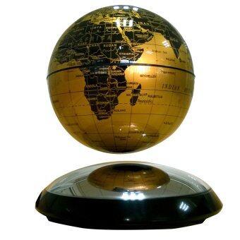 แม่เหล็กโลกพลังแม่เหล็กลอยตัว-6 โค้งกลมฐานคาถาแม็กเลฟ Cunban 15.24ซมแผนที่โลกของขวัญวันเกิด (ทอง)