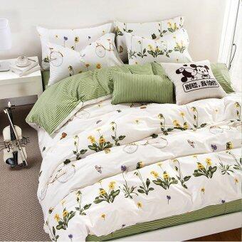 Pillow Land ผ้าปูที่นอน ชุดผ้านวม 6 ฟุต 6 ชิ้น - AA 110