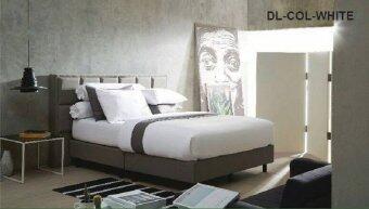 Dunlopillo ผ้าปูที่นอน+ปลอกหมอนหนุน 2ใบ+ปลอกหมอนข้าง 2ใบ ลายDL-COL-WHITE