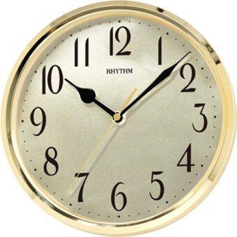 RHYTHM นาฬิกาแขวนผนัง ขอบทองหน้าอลูมิเนียม รุ่น CMG839DR18 - สีทอง