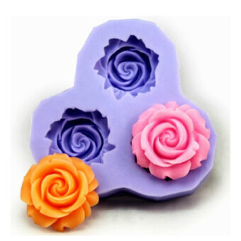Bakeware Silicone Flower Baking Molds for Fondant Candy Chocolate Cake