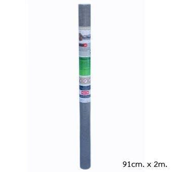 Pet Mesh Mini-Roll (91cm x 2m.) มุ้งลวดทนสัตว์เลี้ยง มุ้งลวดสำหรับบานประตู หน้าต่าง **สีเทา**