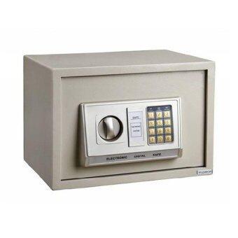 ST Product ตู้เซฟ safe safe box อิเล็กทรอนิกส์ แบบเจาะรู (สีครีม)