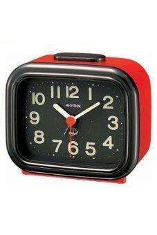 Rhythm Japan Table Clocks นาฬิกาปลุก รุ่น 4RA888-R01 - Black/Red