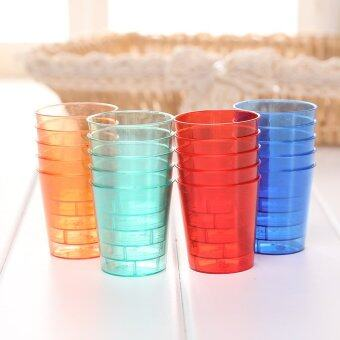 Harga 20pcs Disposable 30ml Glasses Cups Plastic Cup Jelly Shot Colourful Glassware - intl