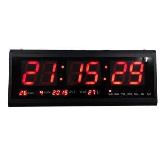 นาฬิกาดิจิตอล LED NUMBER CLOCK แขวนผนัง(ตัวเลขสีแดง) รุ่น HB4819SM