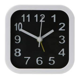 Harga Portable Simple Black White Alarm Clock Compact Table Clock (White) (Intl)