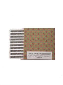 SMIC ดอกสว่านเจาะสแตนเลส ขนาด 15/64 ชนิดหุน สีเงิน - ( 1 กล่อง / 10 ดอก)