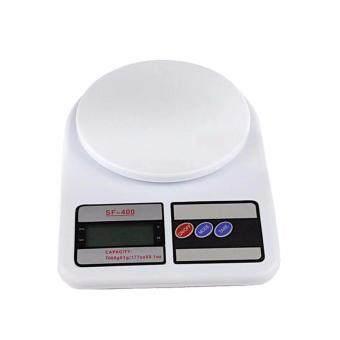 Electronic Kitchen Scale เครื่องชั่งน้ำหนักอาหาร รุ่น SF-400 เครื่องชั่งดิจิตอล 10000 g. (สีขาว)