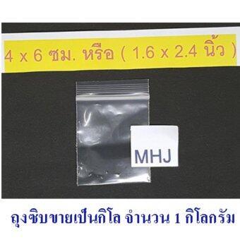 ถุงซิป ถุงซิปล็อค Zipper Bag สำหรับใส่สิ่งของหรือสินค้า ช่วยป้องกันฝุ่น กันน้ำ ขนาด 4x6 ซม. หรือ 1.6x2.4 นิ้ว (ขายยกกิโล จำนวน 1 กิโล)