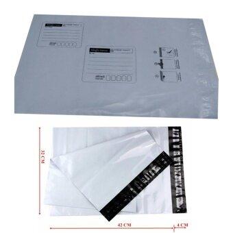 ซองไปรษณีย์พลาสติกสีขาว มีจ่าหน้า ขนาด 32x42 cm (100 ใบ)
