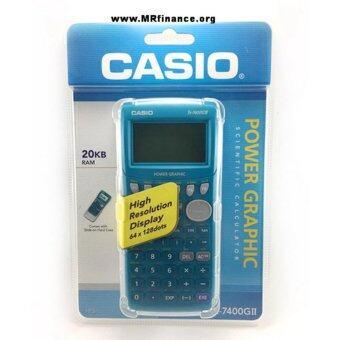 Casio graphing เครื่องคิดเลขวิทยาศาสตร์แสดงผลแบบกราฟิก รุ่น FX 7400GII - blue