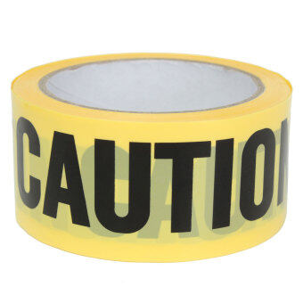 Harga 50mx5cm Roll Yellow Caution Tape Sticker Safety Barrier Police Construction Area (Intl) NEW - intl
